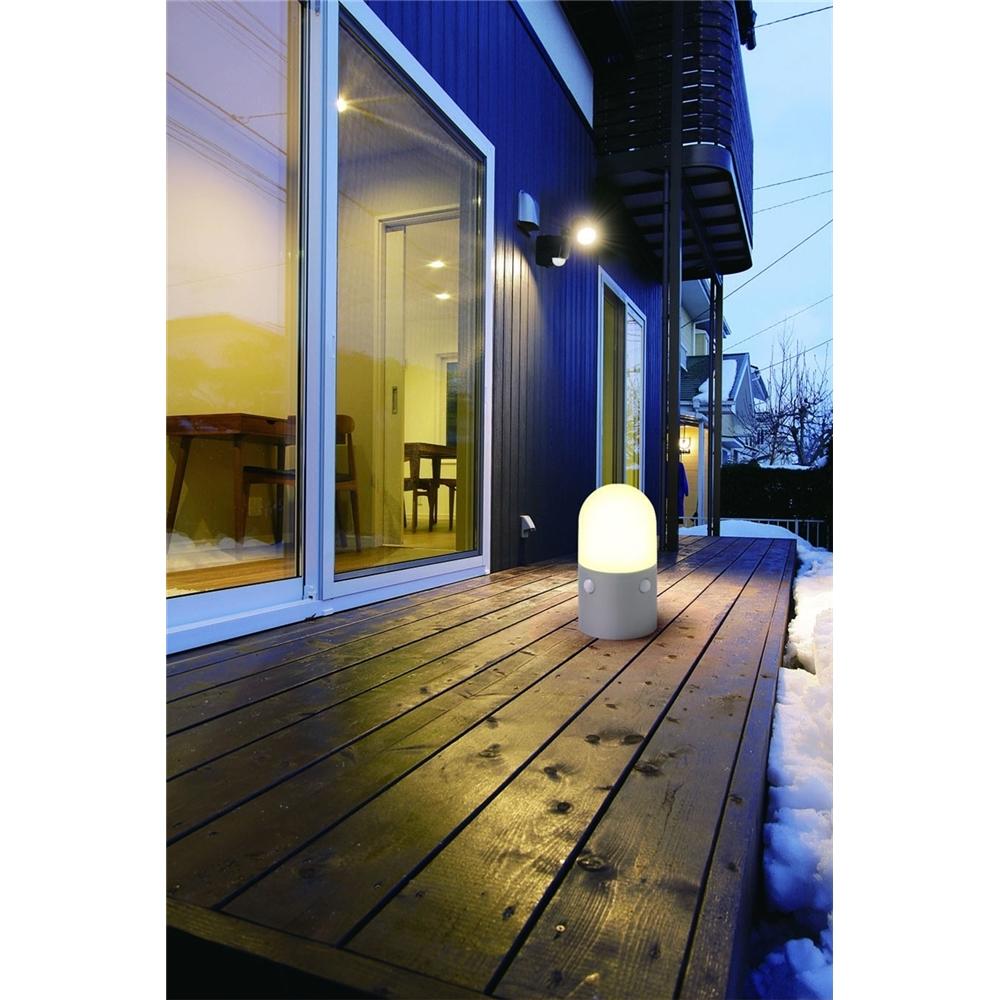 ガーデン センサーライト 人感 置くだけ設置 屋外センサーライト スタンドタイプ 丸型 電球色