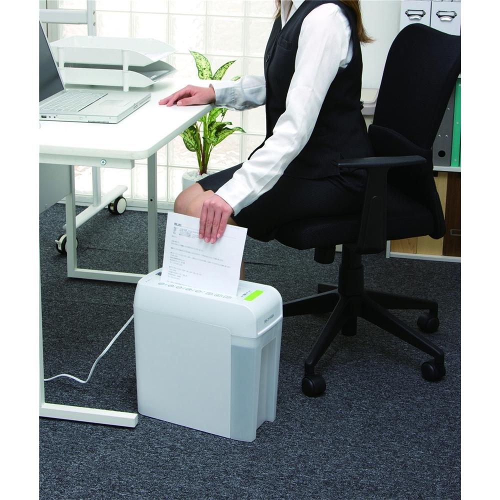 電動シュレッダー オフィス機器 クリアボックス仕様 シュレッダー ホワイト