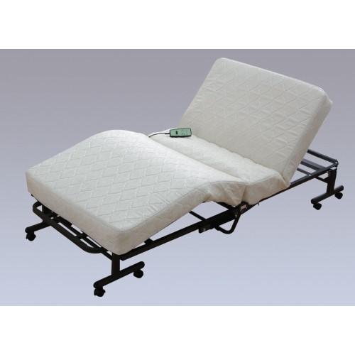 電動 折りたたみ ベッド リモコン の『あがる』・『さがる』ボタンで、ラクラク操作 快眠 折りたたみコイル電動ベッド