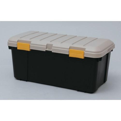大型収納ボックス 車の中や物置の収納に便利 おすすめ カートランク  カーキ/ブラック 3点セット