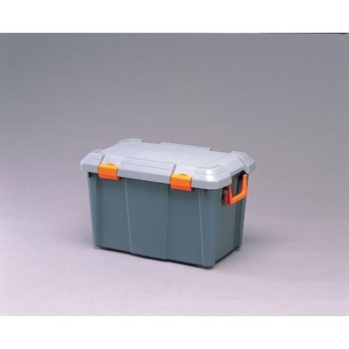 コンテナボックス 高さのある物も入る レジャー 用品 HDBOX グレー/モスグリーン 6点セット