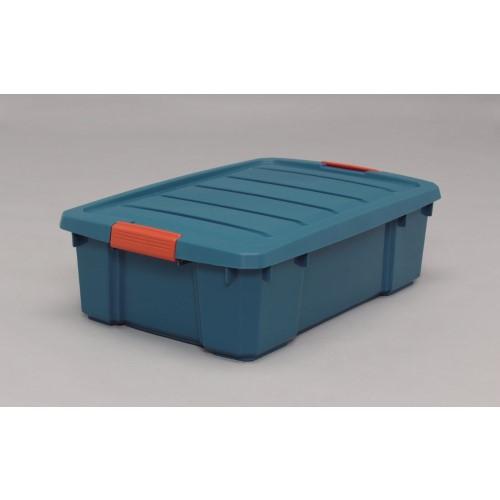 工具 資材 省スペースで、収納 使いやすい バックルBOX グリーン/オレンジ 8点セット