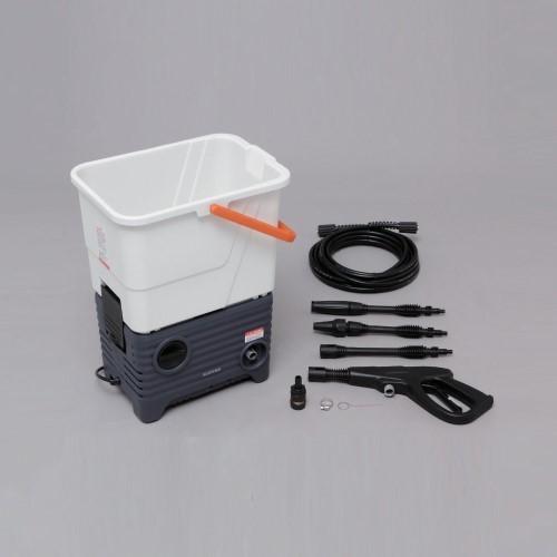 家庭用 高圧洗浄機 静音 の特長があり、集合住宅でも気兼ねなく使うことができます 人気家電 タンク式高圧洗浄機 ホワイト/グレー