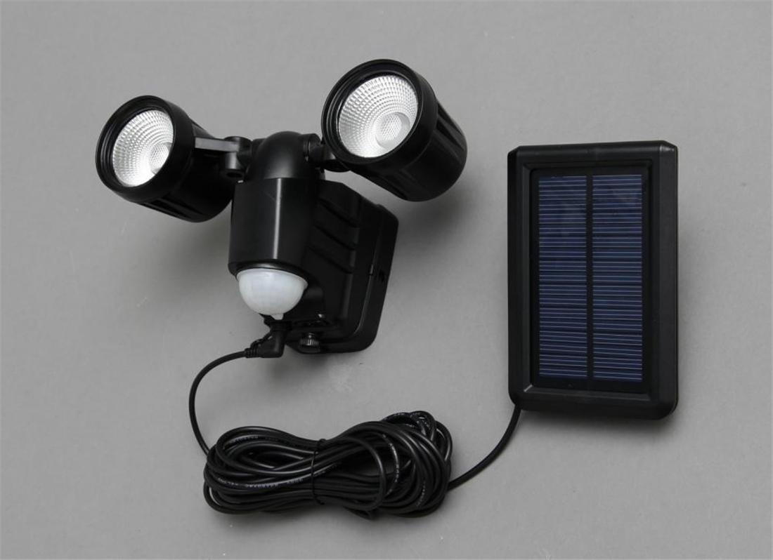 便利 LED 照明 灯り 明かり ライト ワークライト ソーラー式LED防犯センサーライト(昼白色)