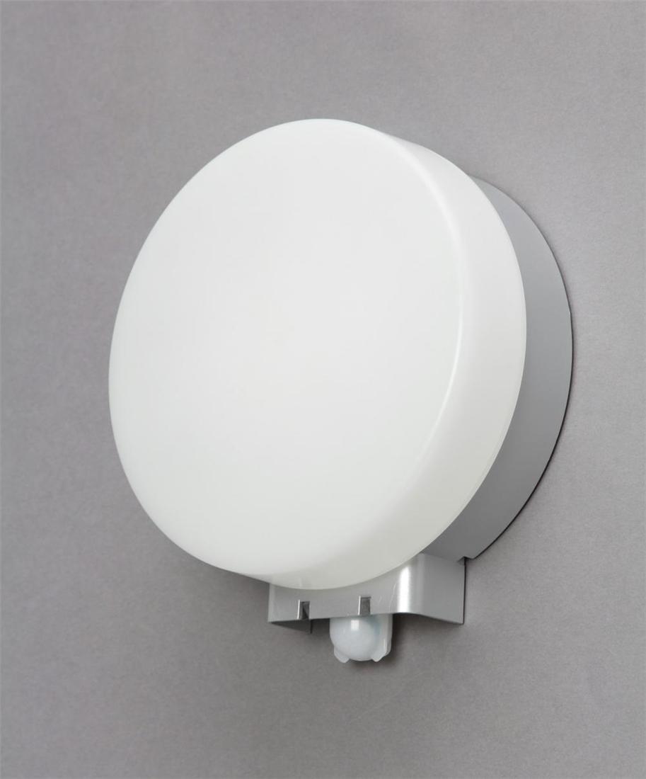 便利 LED 照明 灯り 明かり ライト ワークライト LEDポーチ灯センサー付 円型 電球色相当 500lm