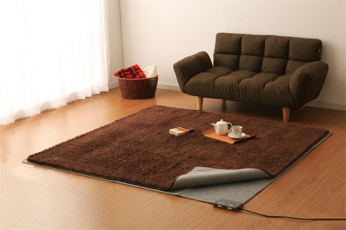 生活 雑貨 便利 暖房 あったかい おしゃれ 室温センサー付 ホットカーペット(2畳)