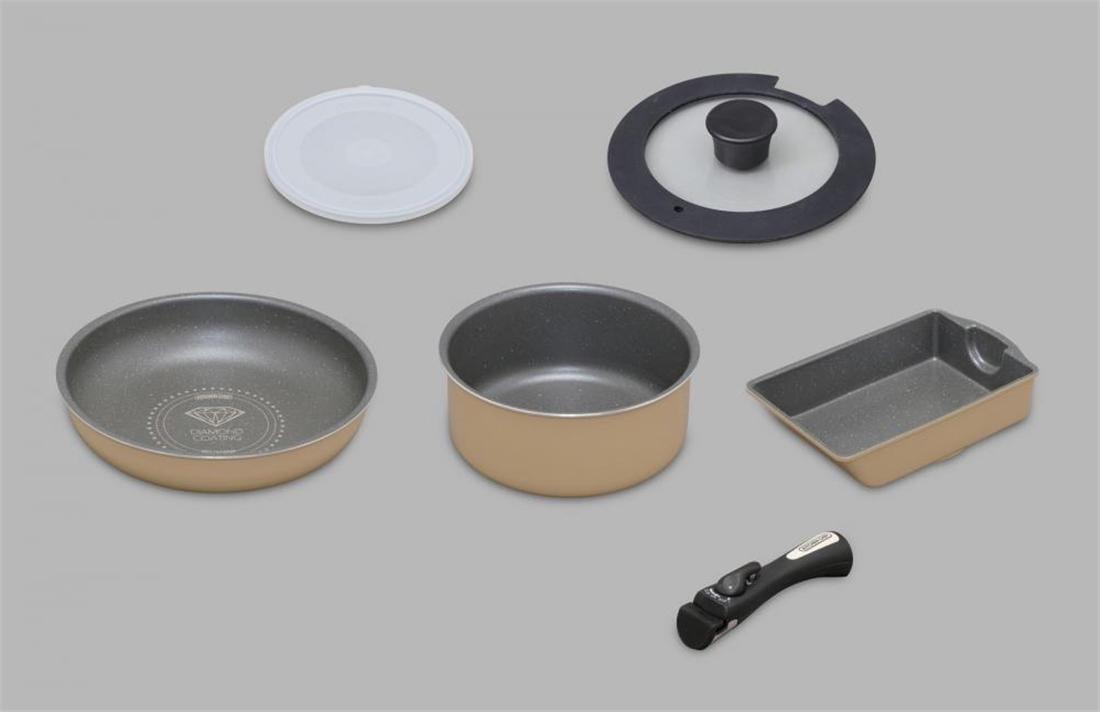 便利 調理器具 キッチン 台所 ダイヤモンドコートパンマーブルガス用6点セット