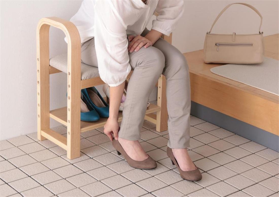 生活 雑貨 便利 スリムタイプ 玄関椅子 GC-55