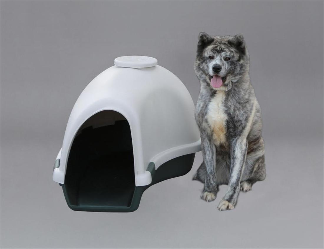 便利 犬小屋 プラスチック 屋外用 犬舎 ドーム型犬舎 USD-950 グレー/グリーン 犬用品 いぬ かわいい ハウス