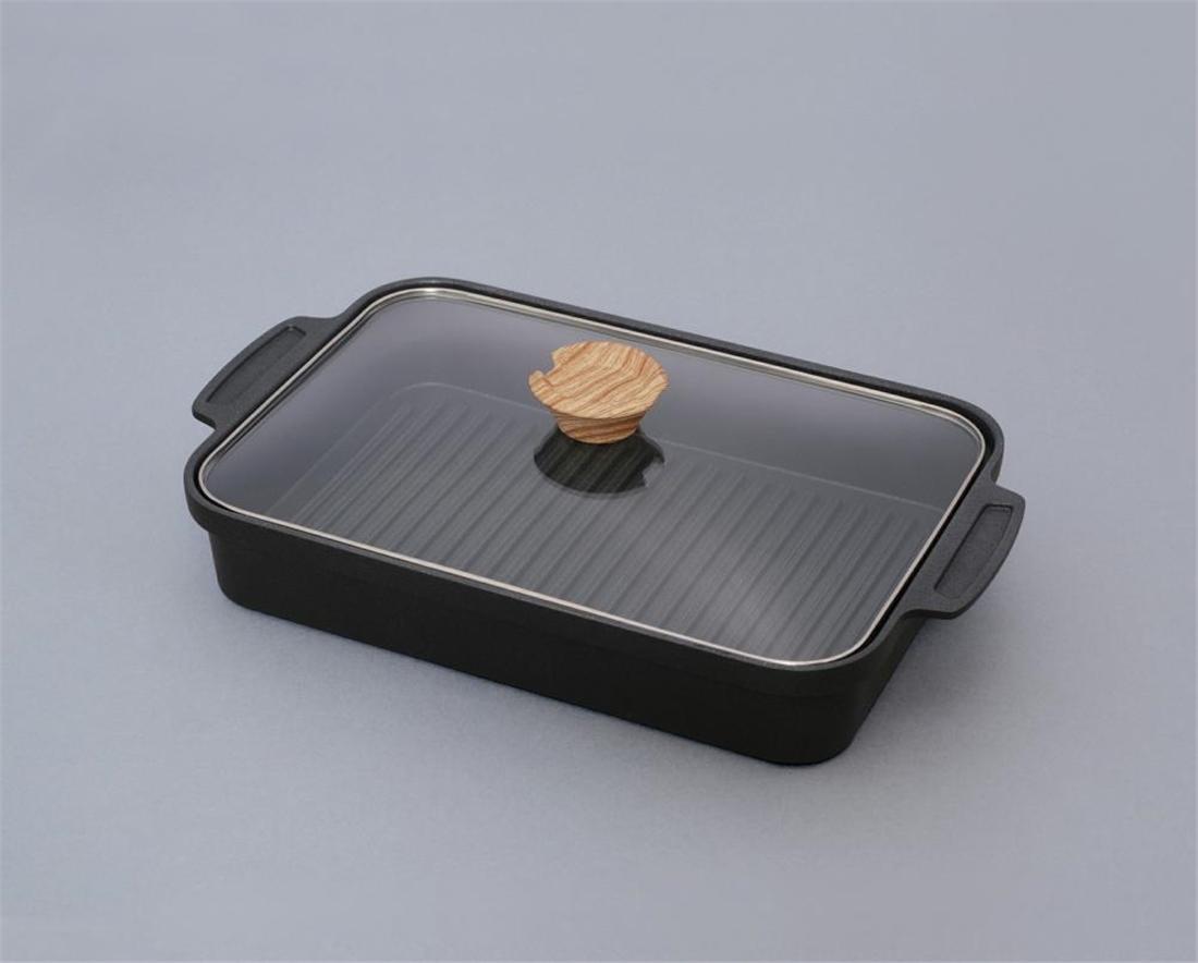 通販 生活 雑貨 便利 調理器具 キッチン 台所 スキレットコートグリルパン