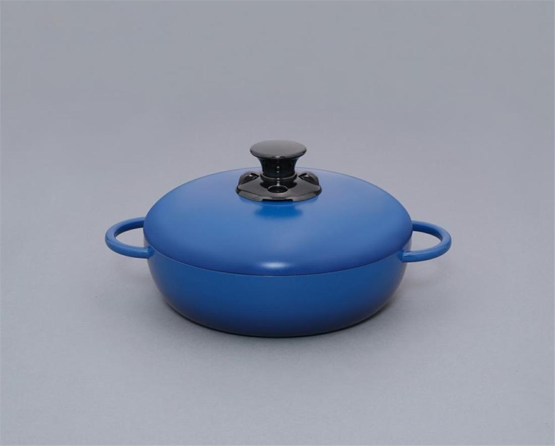 便利 調理器具 キッチン 台所 デザイン無加水鍋 24cm浅型