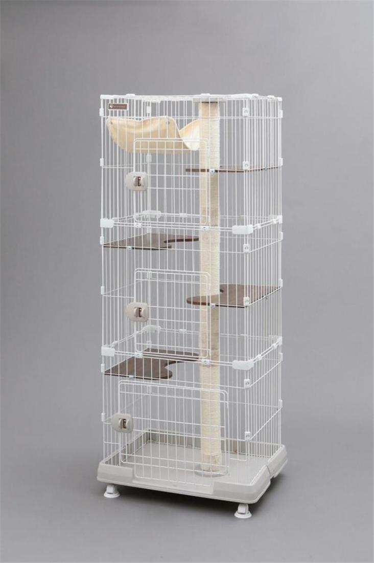 便利 猫 ネコ ケージ コンパクト 猫用品 ねこ かわいいキャットランドケージ スリム