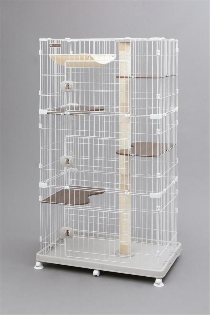便利 猫 ネコ ケージ 多頭飼い 猫用品 ねこ かわいいキャットランドケージ ワイド