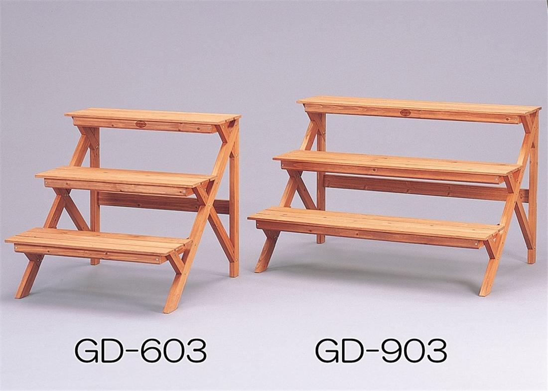 便利 ベランダ 玄関 園芸 ガーデニング スタンド 木製フラワースタンド