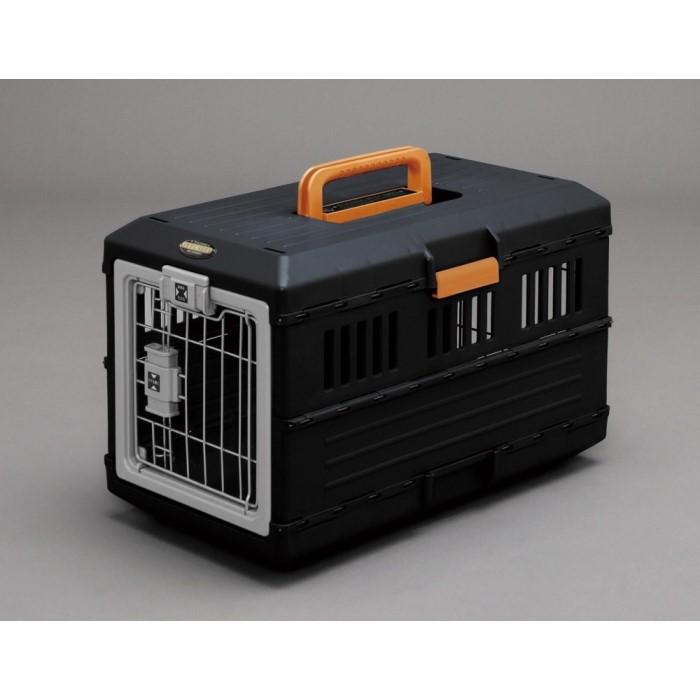 ペット キャリー バック 犬用品 室内犬や猫と一緒にお出かけできる!ブラック/オレンジ
