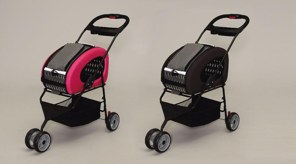 キャリーケース ペット 用品 ネコ 4通りの使い方ができる多機能ペットカート!ブラウン