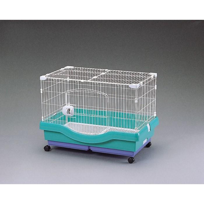ラビット ケージ ペット ウサギ 二層式で分割が可能で掃除が簡単!パステルグリーン