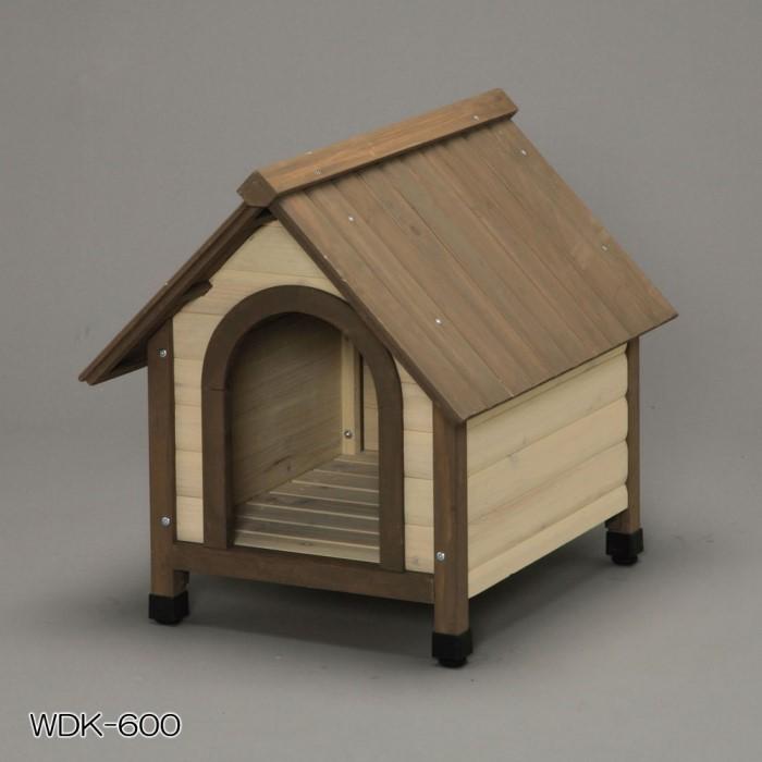 ウッディ 犬舎 犬小屋 耐候性、耐久性に優れた犬舎!900 ブラウン:創造生活館