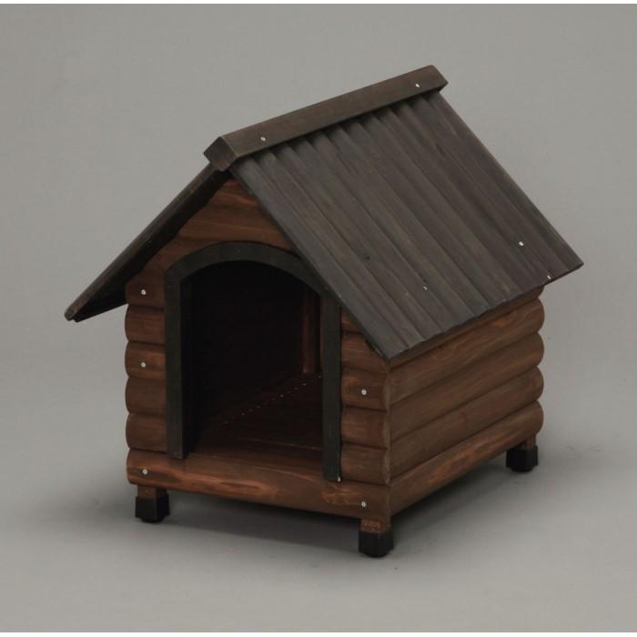 パステルメジャー1.5m 付き 犬小屋 犬舎 ペットハウス 即出荷 ドッグハウス 犬 イヌ ログハウス風のおしゃれな木製犬舎 いぬ ダークブラウン 屋外用 ドア付 無料サンプルOK