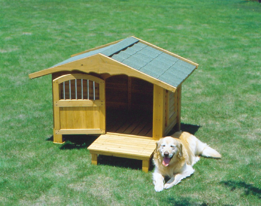 犬舎 ドッグ ハウス おしゃれでぬくもりがあるロッジ風の犬舎!ブラウン