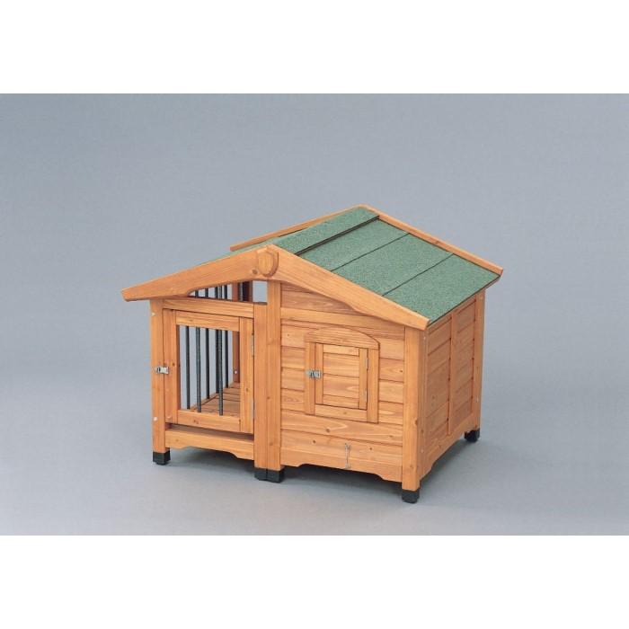 犬舎 ドッグ ハウス 夏は涼しく冬は暖かく年中快適!ブラウン