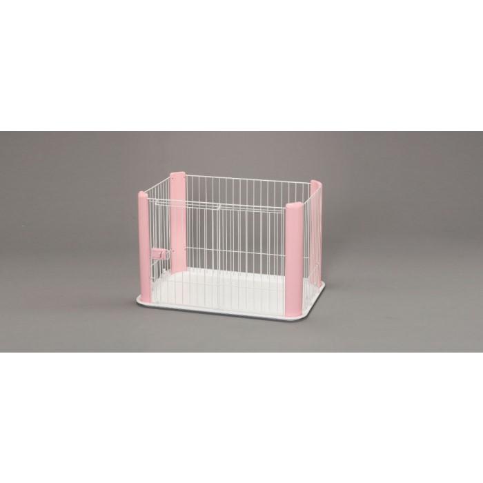 ハウス ペット 犬小屋 開閉がスムーズなスライドドア採用!ピンク