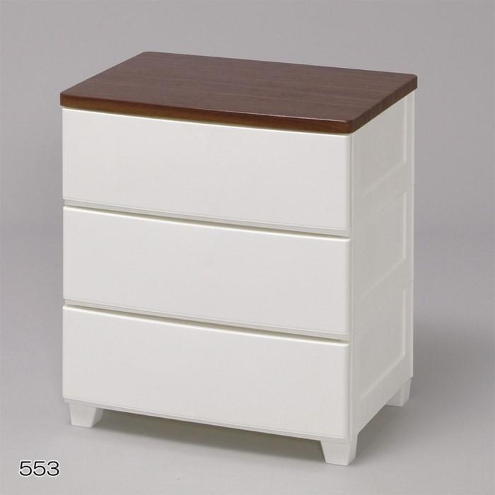 3段 チェスト/収納ボックス シンプルなデザインがお部屋をすっきりみせます!! 衣類収納 タンス/箪笥 インテリア 収納家具 ホワイト/ウォールナット 3段 MG-553