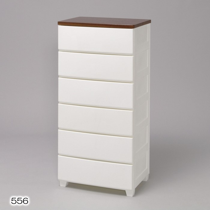 6段 チェスト/収納ボックス シンプルなデザインがお部屋をすっきりみせます!! 衣類収納 タンス/箪笥 インテリア 収納家具 ホワイト/ウォールナット 6段 MG-556