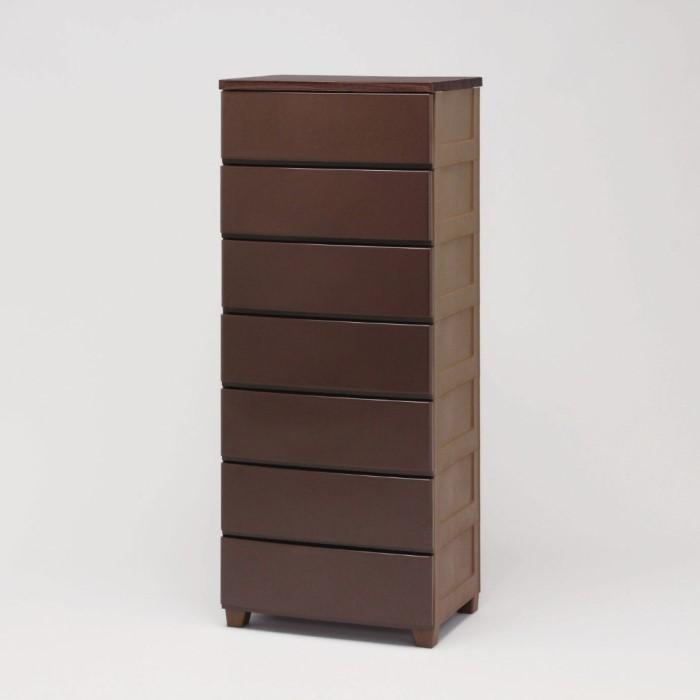7段 チェスト/収納 ケース 耐久性に優れた木天板!! 収納家具 衣類 洋服 衣装ケース リビング おしゃれ ブラウン MG-557