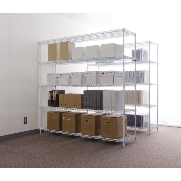メタルラック お部屋だけでなく、オフィス・工場にも!! 棚 シェルフ スチール 収納 オープンシェルフ シンプル 白 ホワイト CMR-1818J