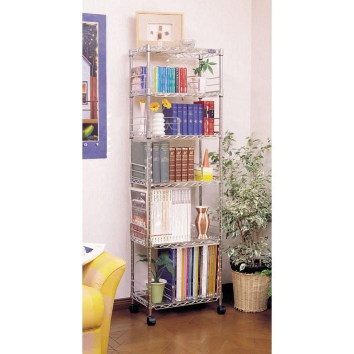 書棚 A4サイズのファイルがピッタリ収納できます!! キャスター付き シェルフ 本収納 オープンシェルフ スチール MM-B425