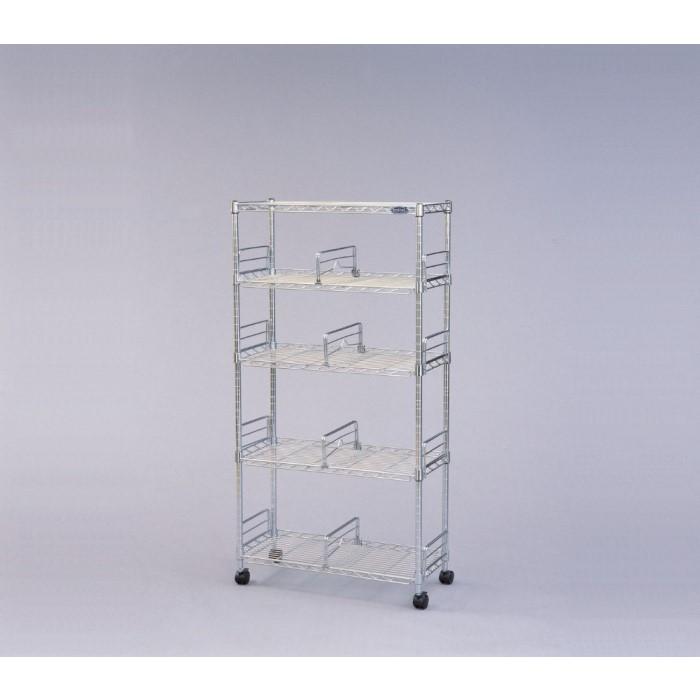 本棚 A4サイズのファイルがピッタリ収納できます!! キャスター付き ブックシェルフ 収納 スチール メタルラック スリム 書斎 MM-B624