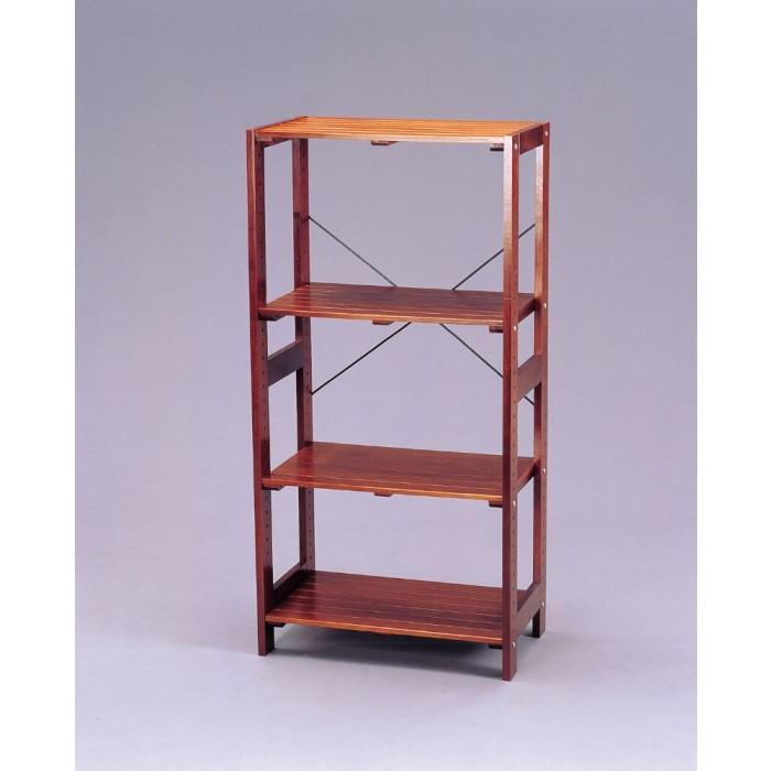 木製 ラック ナチュラルテイストな木製ラック!! 小物 収納 棚 シェルフ オープンラック 天然木 収納家具 ブラウン W585×D350×H1185
