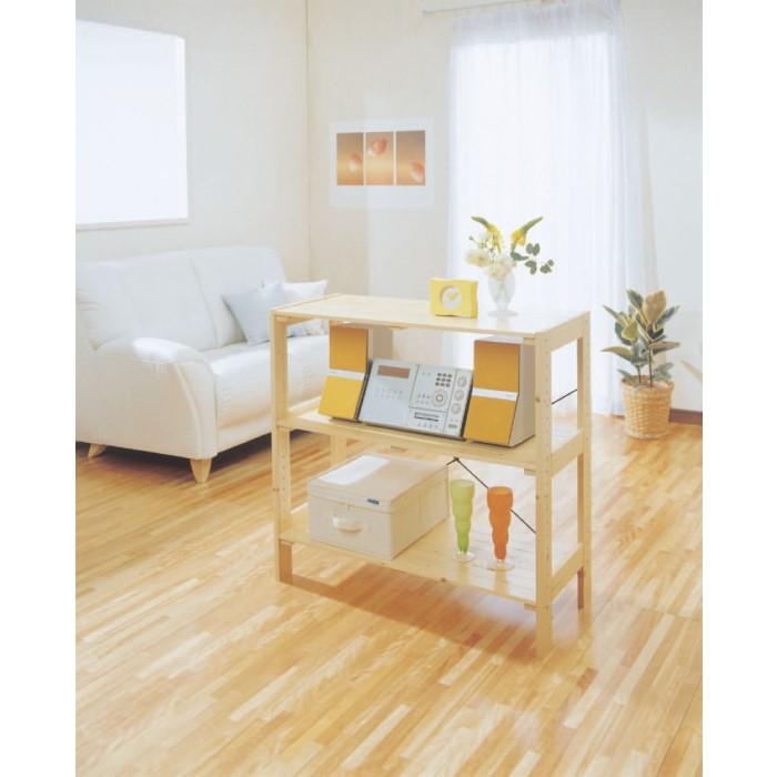 木製 ラック ナチュラルテイストな木製ラック!! おしゃれ 収納 飾り棚 キッチン リビング 収納棚 家具 クリア W835×D350×H800