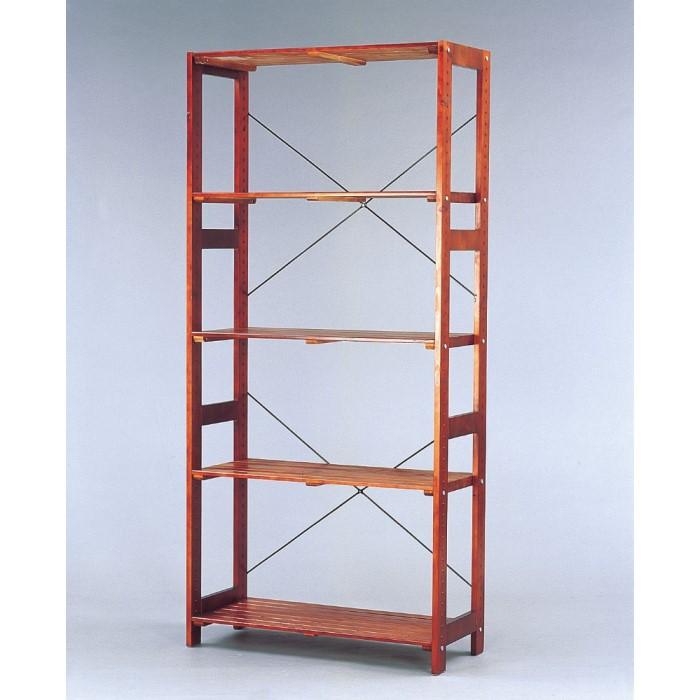 木製 ラック ナチュラルテイストな木製ラック!! 収納棚 収納家具 リビング 台所 収納 一人暮らし インテリア ブラウン W835×D350×H1790