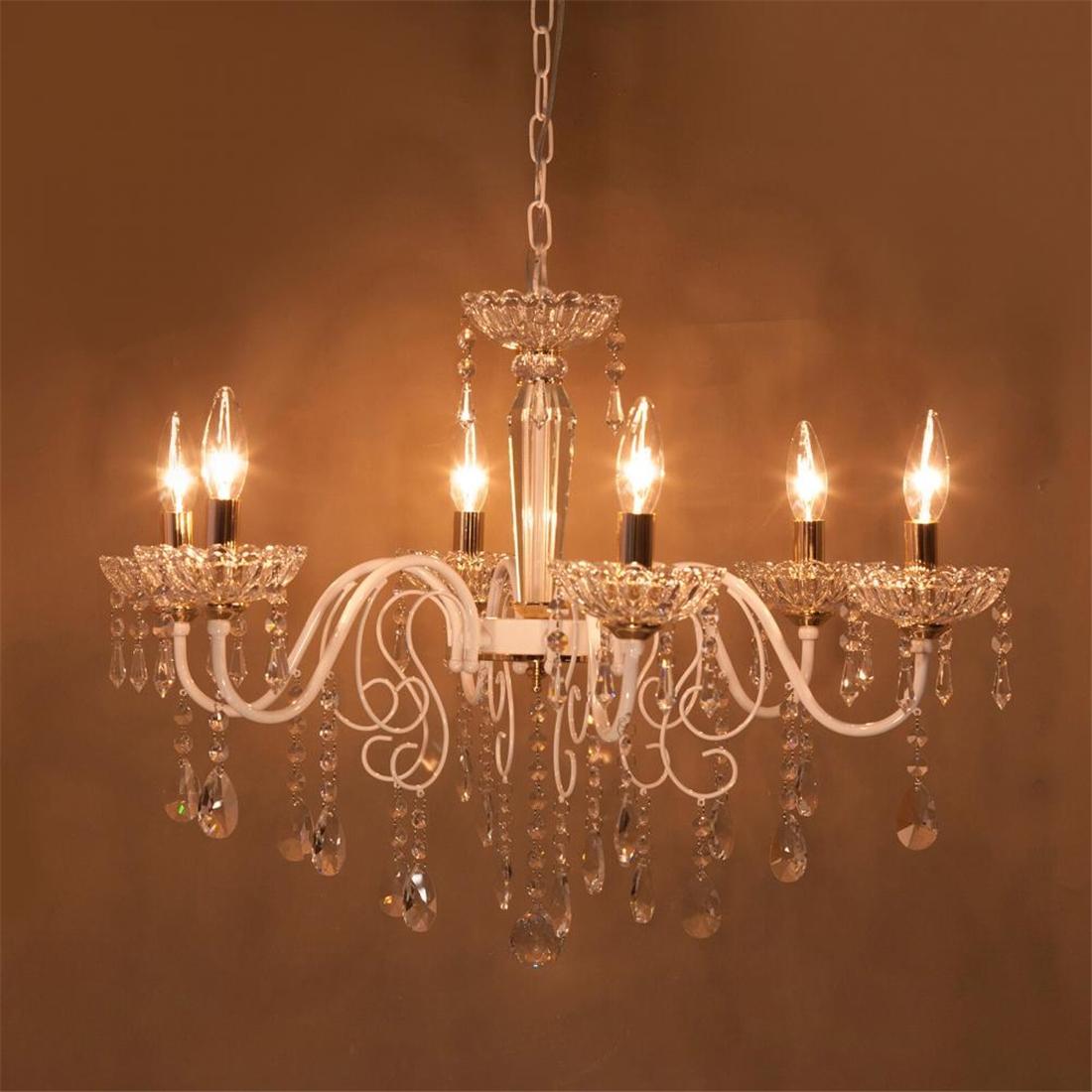 吊照明 クリスタルガラス シャンデリア[SUCI スーチ(6灯)][E12/水雷型]おすすめ 送料無料 誕生日 便利雑貨 日用品