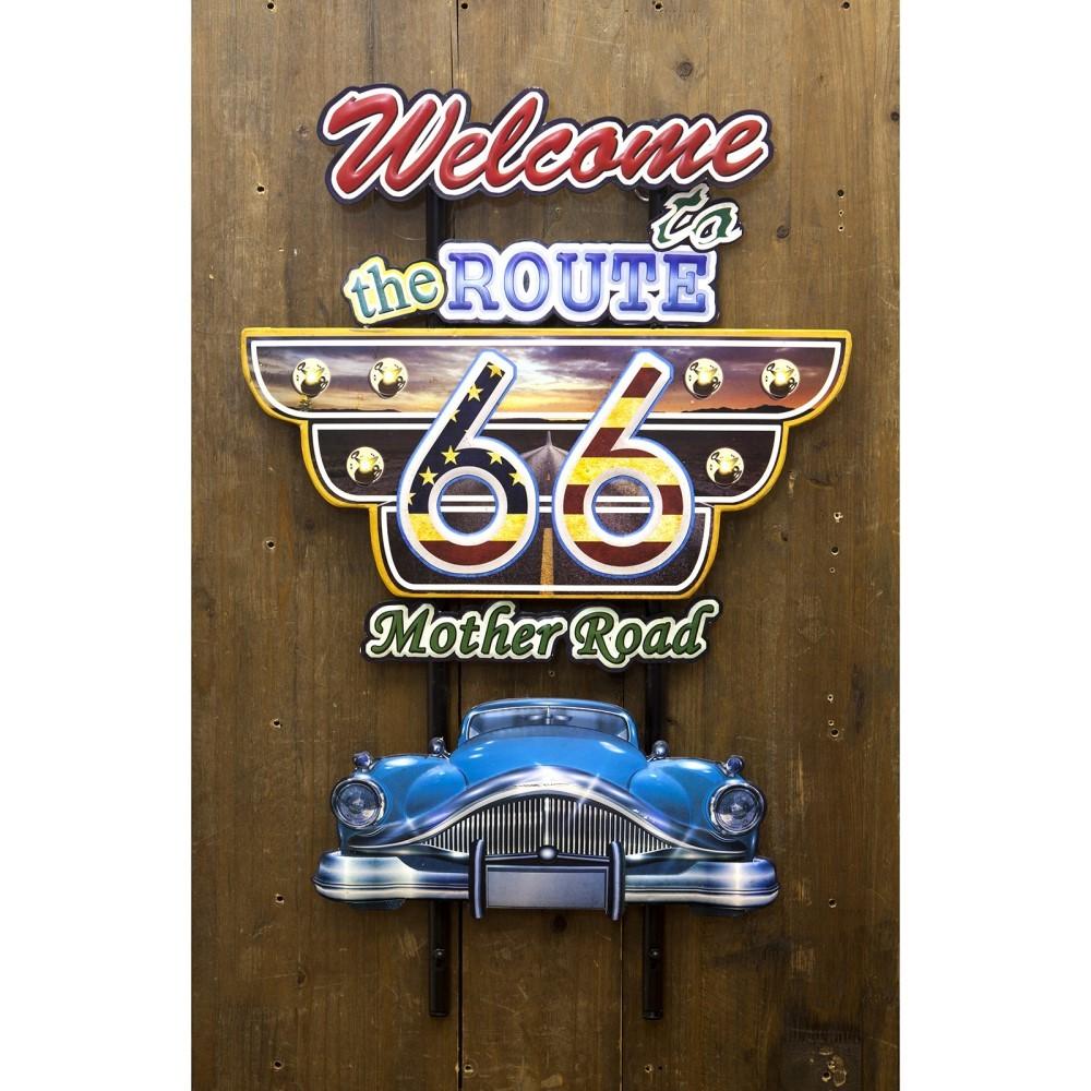アメリカ雑貨 plate 看板 アメリカンスタイルウォールデコ Route66
