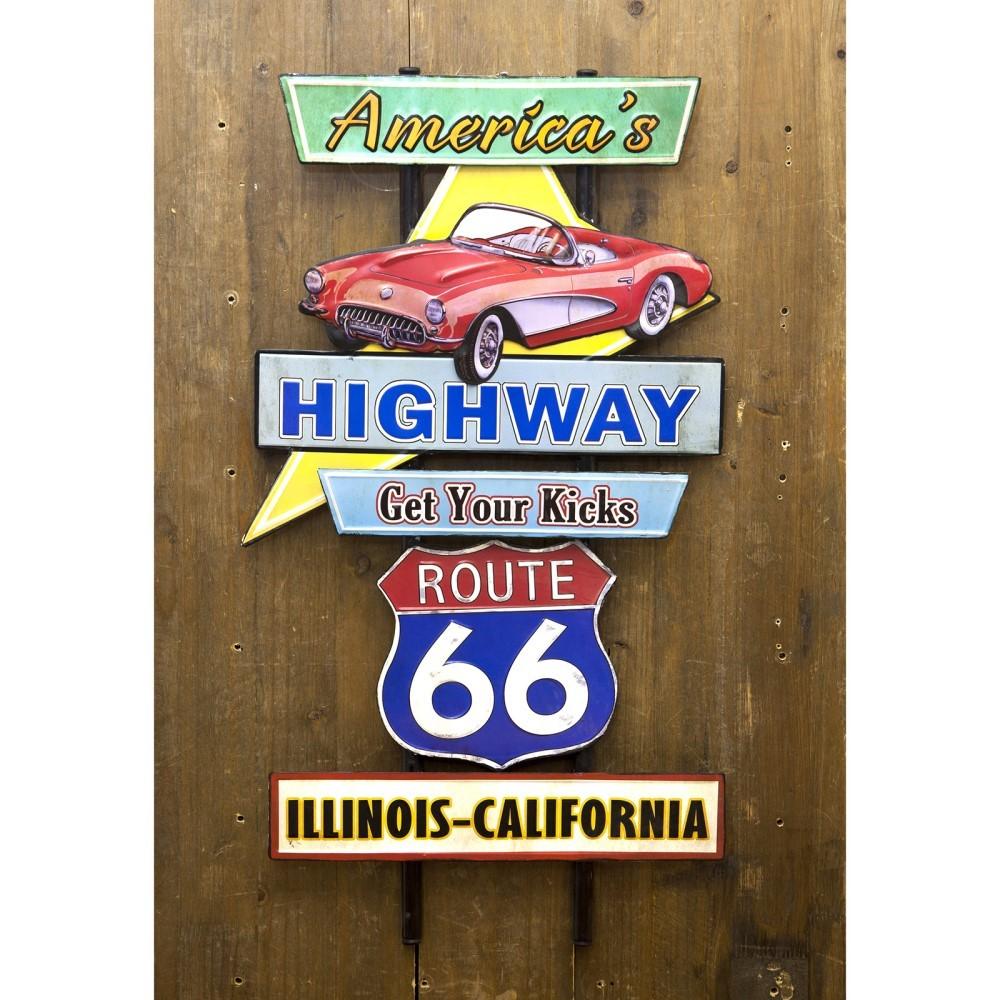 壁面装飾 ウォールデコ アメリカンスタイル アメリカンスタイルウォールデコ America's Highway