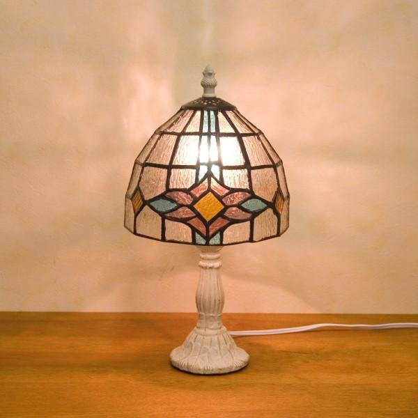 アンティーク テーブルランプ レトロモダンな 素敵な スタンドランプ ダイヤモンド