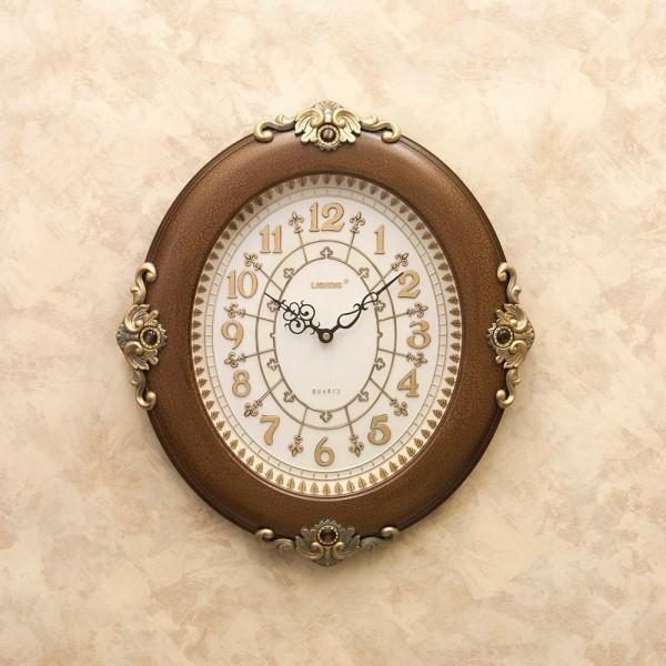 【2個セット】掛け時計 ゴージャスな インテリア ウォールクロック ブラウン