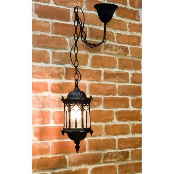【3個セット】洋風 照明器具 行燈 オシャレな外灯風な インテリア アベニューランプ 1灯 ブラック