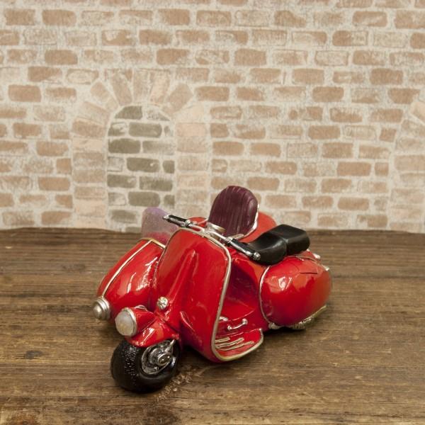 【3個セット】置き物 小物 小さくてかわいいデザイン お洒落 アメリカ雑貨 マネーバンク サイドカー レッド