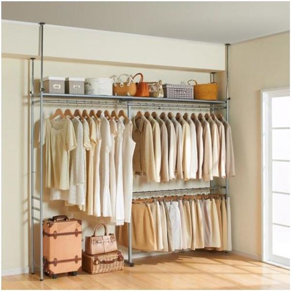 収納ハンガー ラック 収納家具 衣類はもちろん棚にケースやバッグも収納!