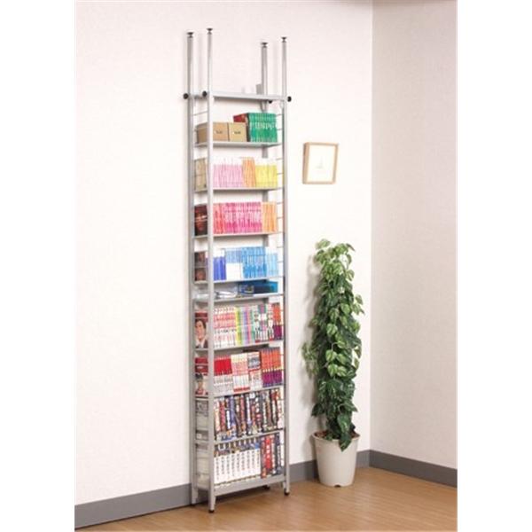 CDラック コミック本 ビデオテープ 収納 棚板の傾斜&仕切り板で上手に収納!