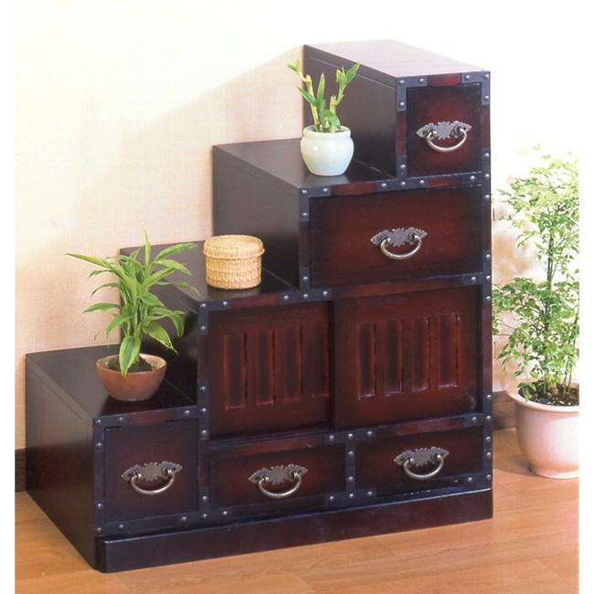民芸調家具:階段チェスト左【収納家具】人気 お得な送料無料 おすすめ 流行 生活 雑貨