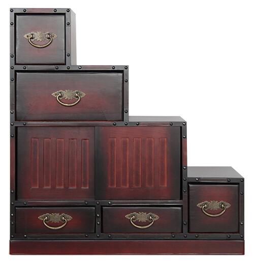 民芸調家具:階段チェスト右【収納家具】人気 商品 送料無料 父の日 日用雑貨