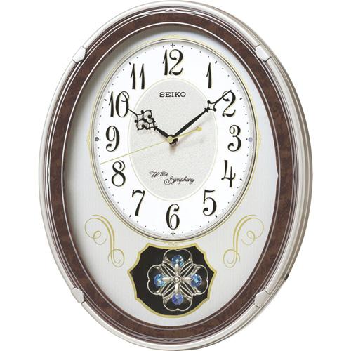 生活関連グッズ ウェーブシンフォニー 電波正時メロディ掛時計 C8061114