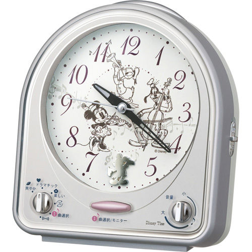 日用品 便利 ユニーク DisneyTime ディズニー目覚まし時計 C8061029 C9061548