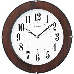 便利雑貨 木枠電波掛時計 B3144049