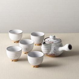 便利雑貨 白釉茶器揃